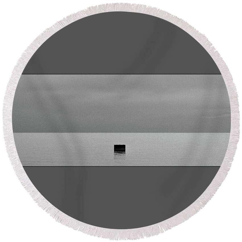 Round Beach Towel featuring the photograph Liquid Peace 2 by Jean Scherer