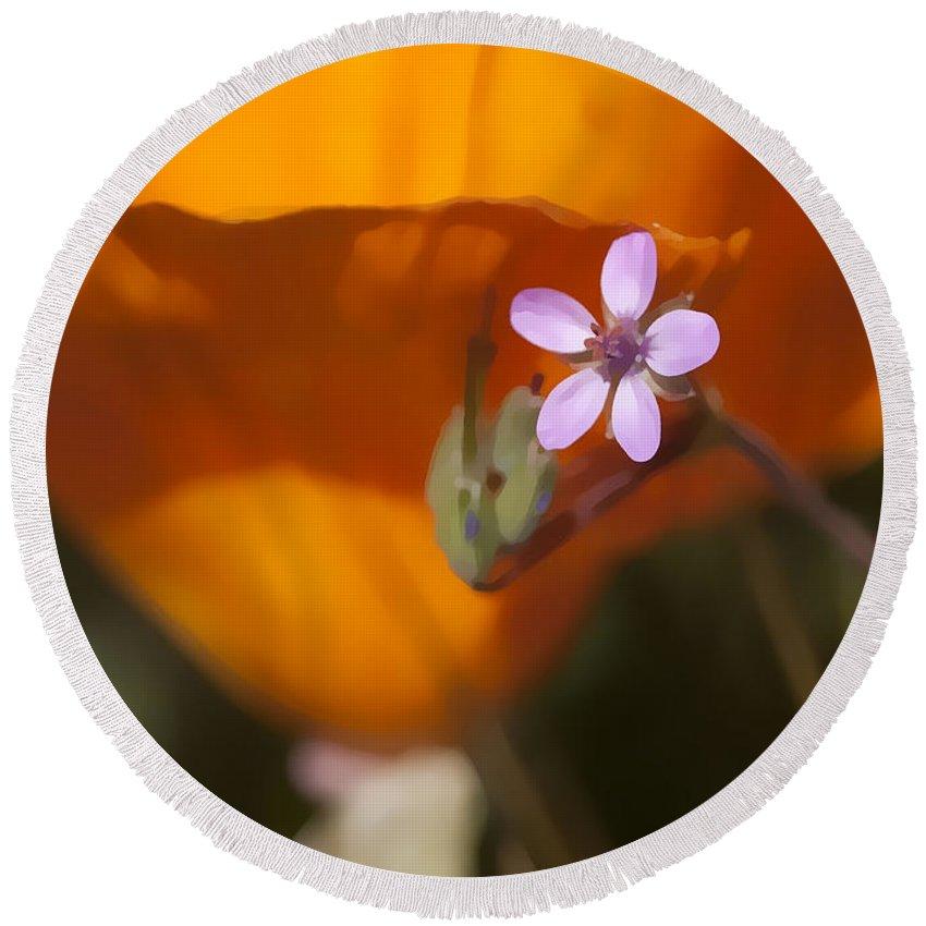 Wildflower Round Beach Towel featuring the digital art Little Beauty by Sharon Foster