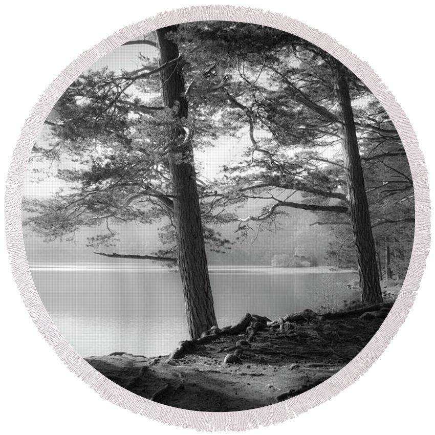 Scotland Round Beach Towel featuring the photograph Loch An Eilein by Dorit Fuhg