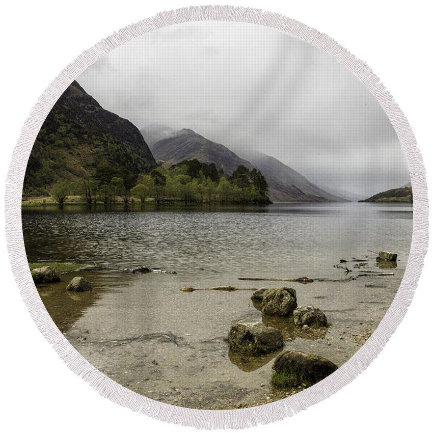 Loch Round Beach Towel featuring the photograph Loch Shiel by Fran Gallogly