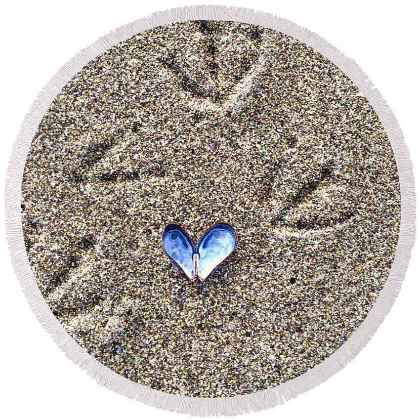 Love Round Beach Towel featuring the photograph Love by Karen Scott