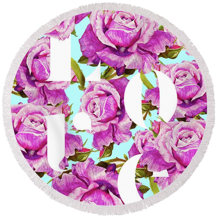 Roses Round Beach Towels