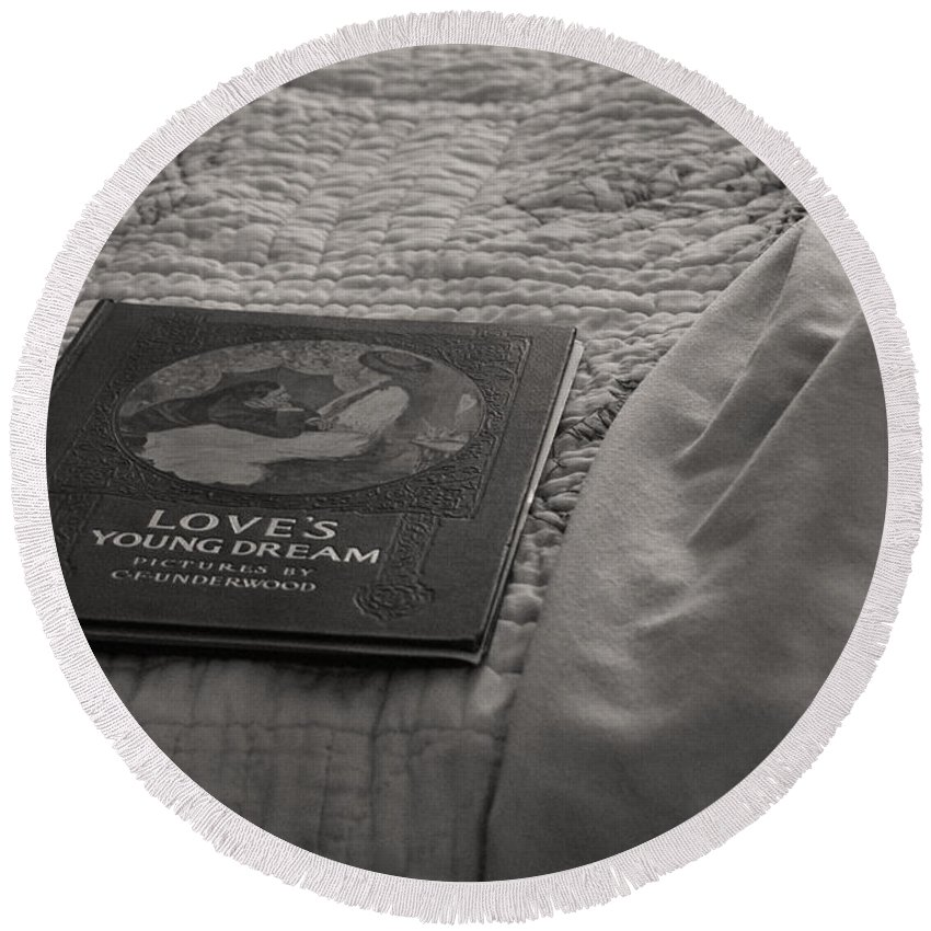 House Round Beach Towel featuring the photograph Love Young Dreams by The Artist Project