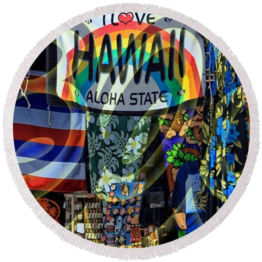 Hawaii Round Beach Towel featuring the photograph Lovin' 808 by DJ Florek