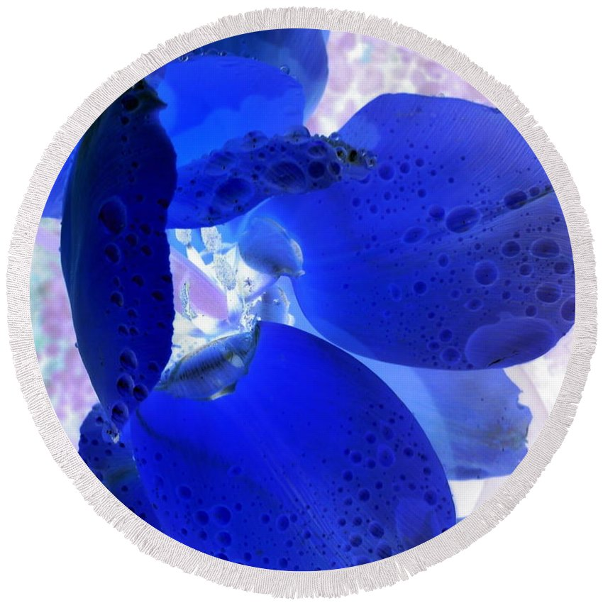 Orphelia Aristal Round Beach Towel featuring the photograph Magical Flower I by Orphelia Aristal