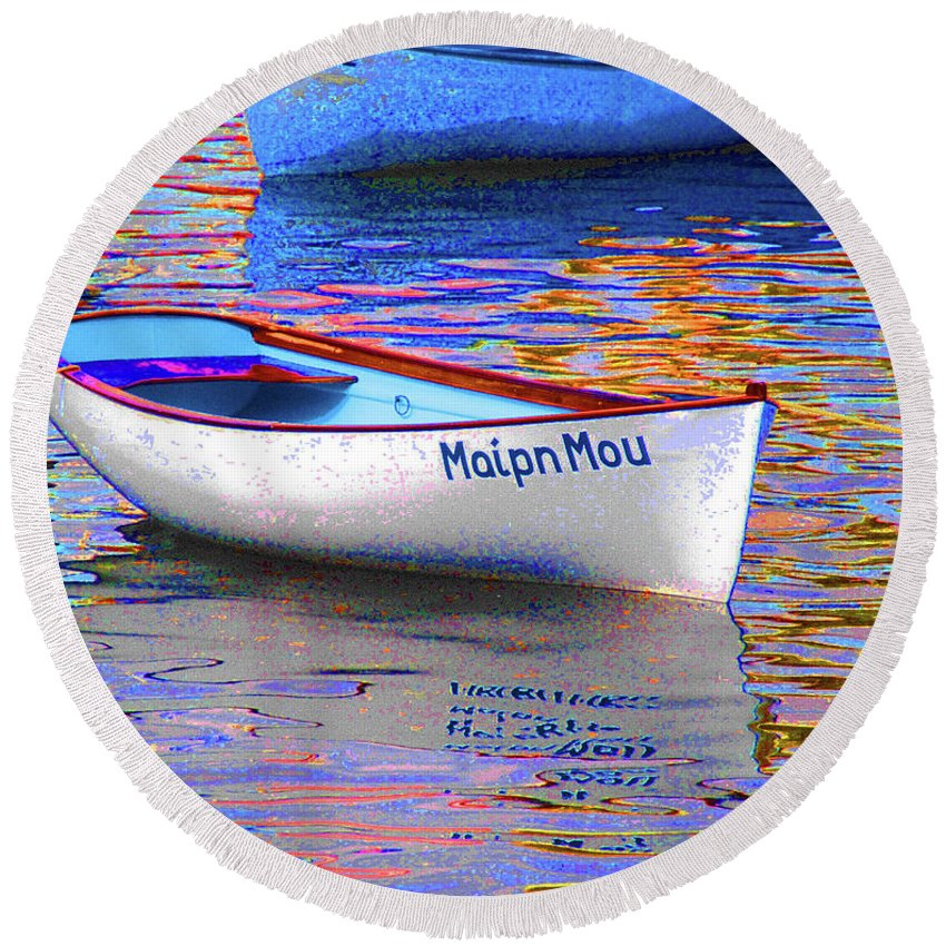 Maipn Mou Round Beach Towel featuring the photograph Maipn Mou by Jost Houk