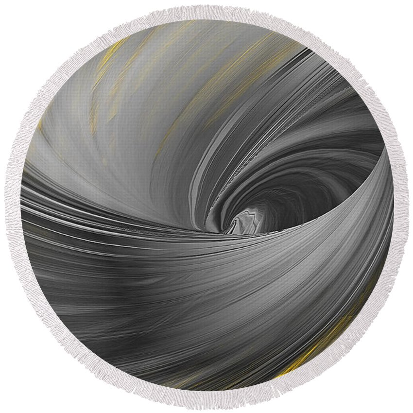 Yellow Round Beach Towel featuring the painting Majestic Soar by Lourry Legarde