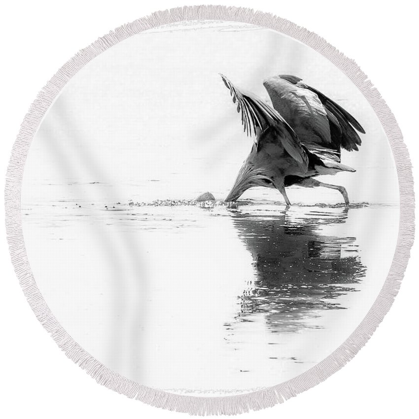 Black And White Photography Round Beach Towel featuring the photograph Make It Happen by Julie Craig