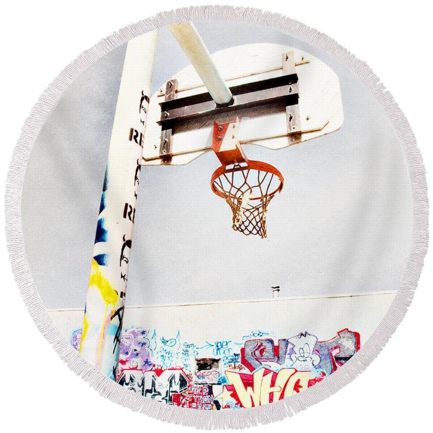 Basketball Round Beach Towels