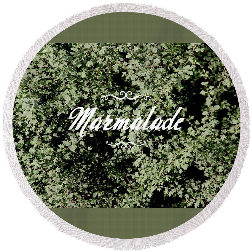 Round Beach Towel featuring the photograph Marmalade by Kalyj