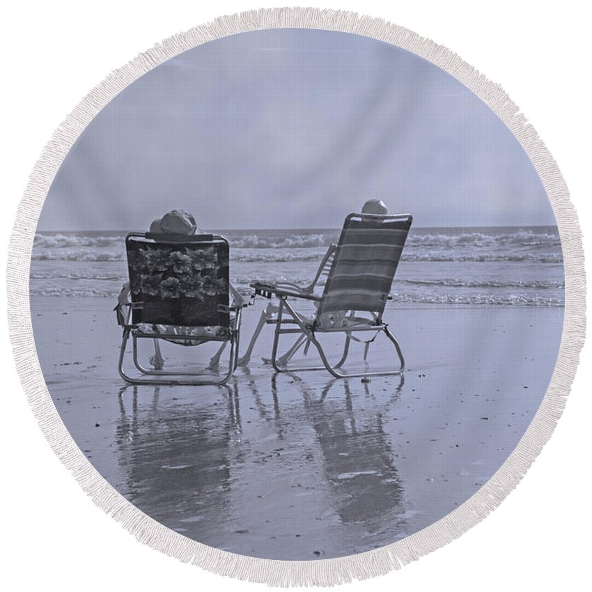 Chair Round Beach Towel featuring the photograph Match Made In Heaven by Betsy Knapp