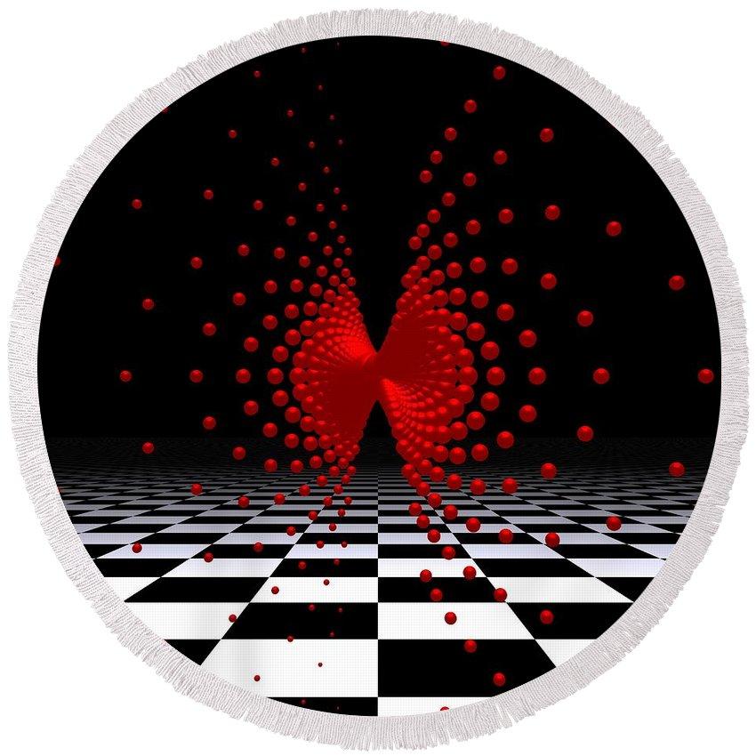 3d Round Beach Towel featuring the digital art Mathematics -10- by Issabild -