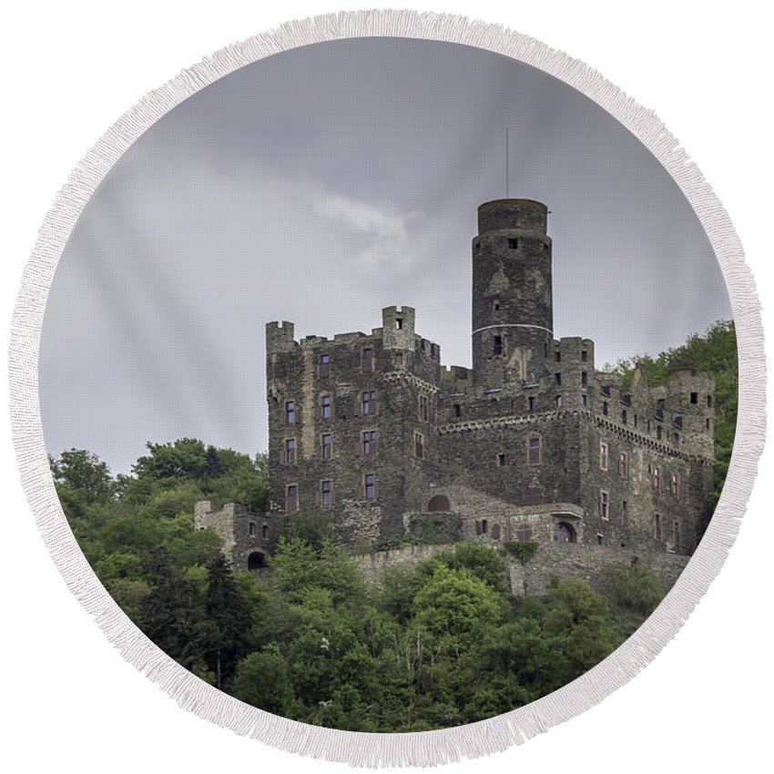 Maus Castle Round Beach Towel featuring the photograph Maus Castle 09 by Teresa Mucha