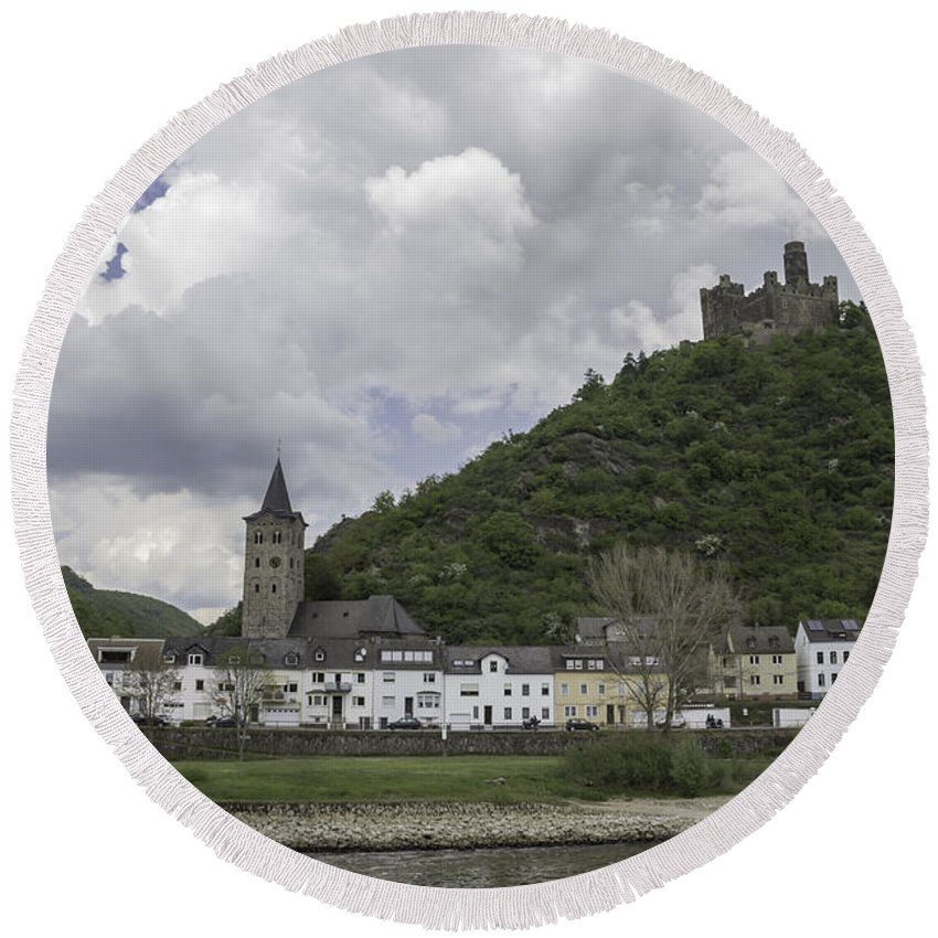 Maus Castle Round Beach Towel featuring the photograph Maus Castle 14 by Teresa Mucha