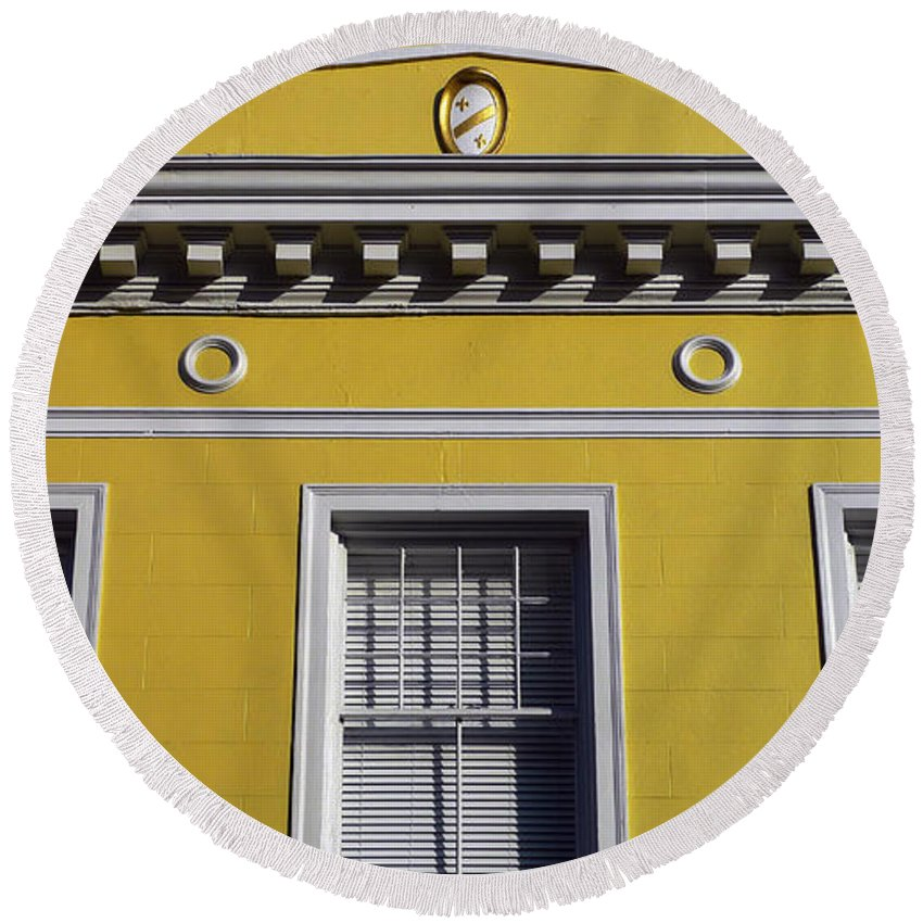 Mellow Yellow Round Beach Towel featuring the photograph Mellow Yellow by Skip Hunt