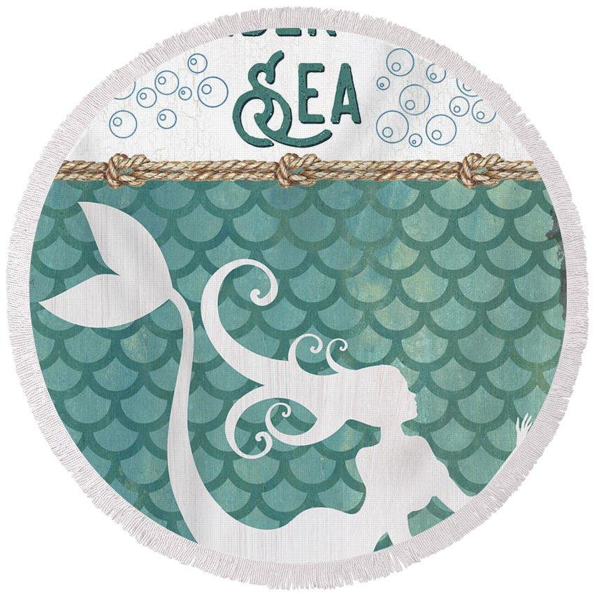 Mermaid Tail Round Beach Towels