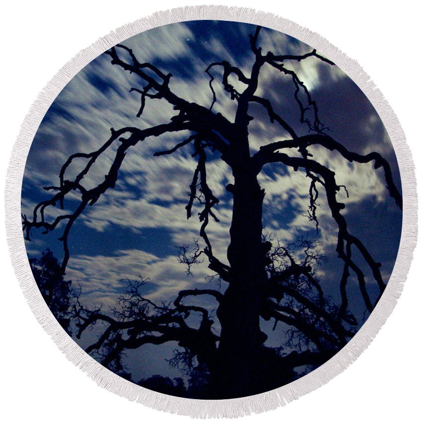 Clouds Round Beach Towel featuring the photograph Midnight Blue by Peter Piatt