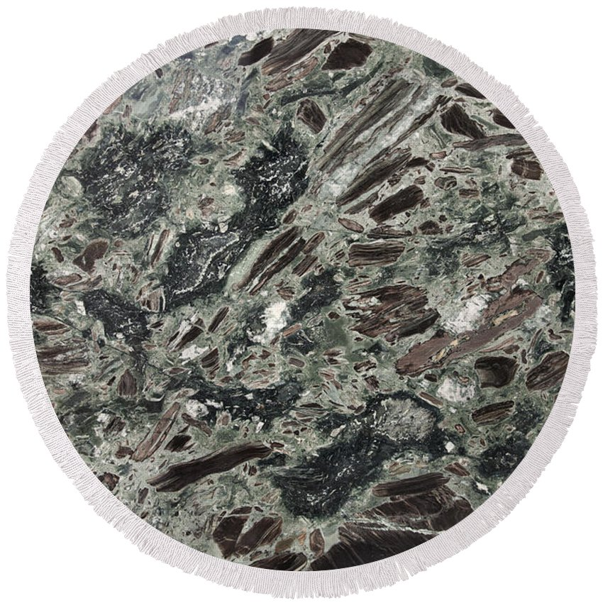 Granite Round Beach Towel featuring the photograph Mobkai Granite by Anthony Totah