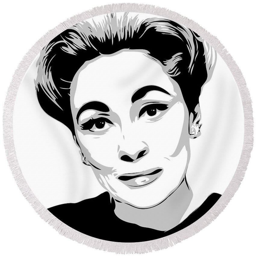 Art Round Beach Towel featuring the digital art Mommie Dearest - Clean Up This Mess - Pop Art by William Cuccio aka WCSmack