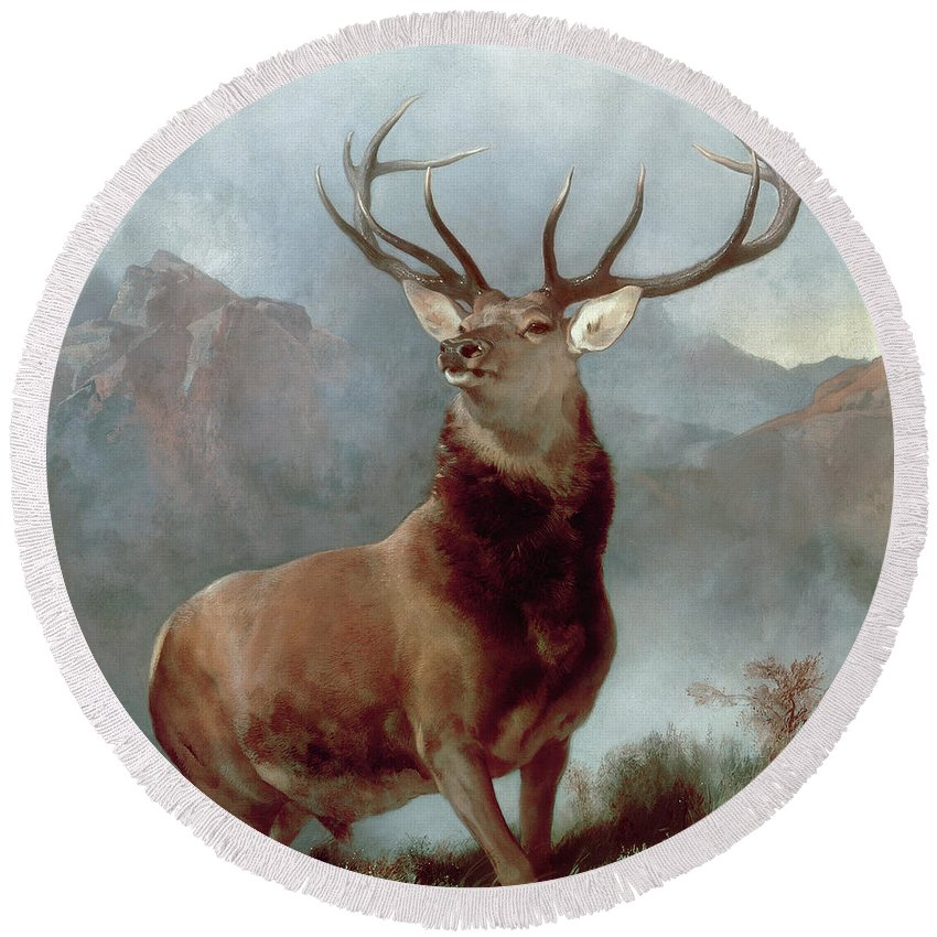 Landseer Round Beach Towels