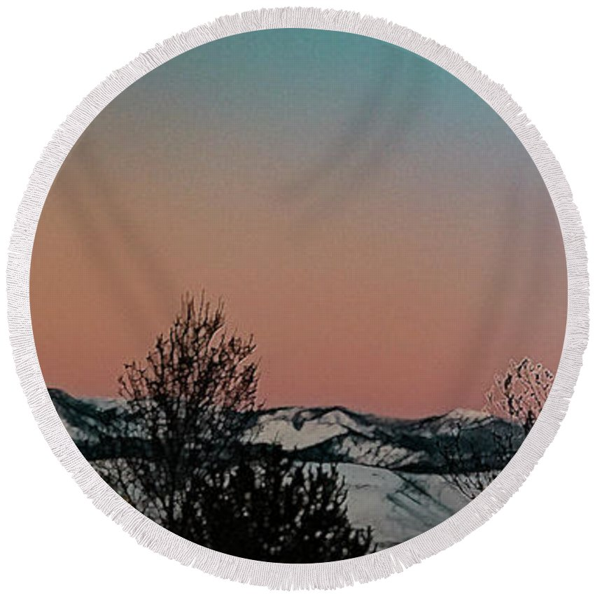 Round Beach Towel featuring the photograph Monday Monday by Nancy Marie Ricketts