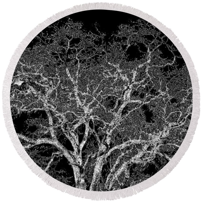 Photo Design Round Beach Towel featuring the digital art Moonlit Night by Will Borden