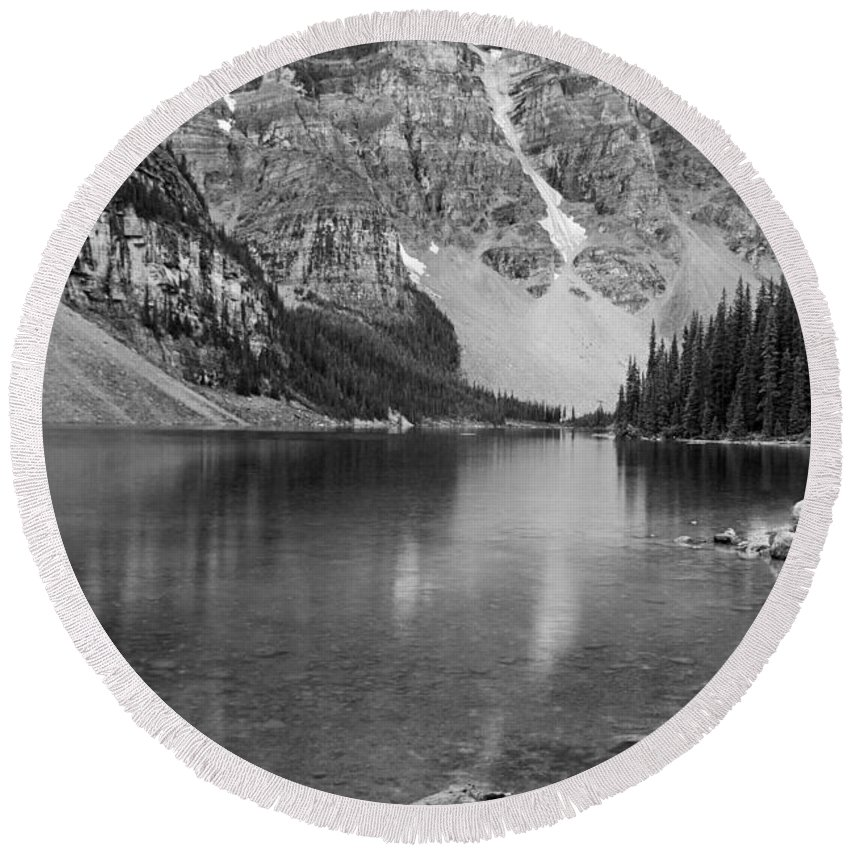 Moraine Lake Round Beach Towel featuring the photograph Moraine Lake II by Angie Schutt
