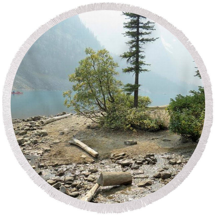 Lake Round Beach Towel featuring the photograph Moraine Shores by Frank Townsley