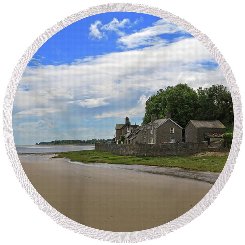Sands Round Beach Towel featuring the photograph Morecambe Bay by Louise Heusinkveld