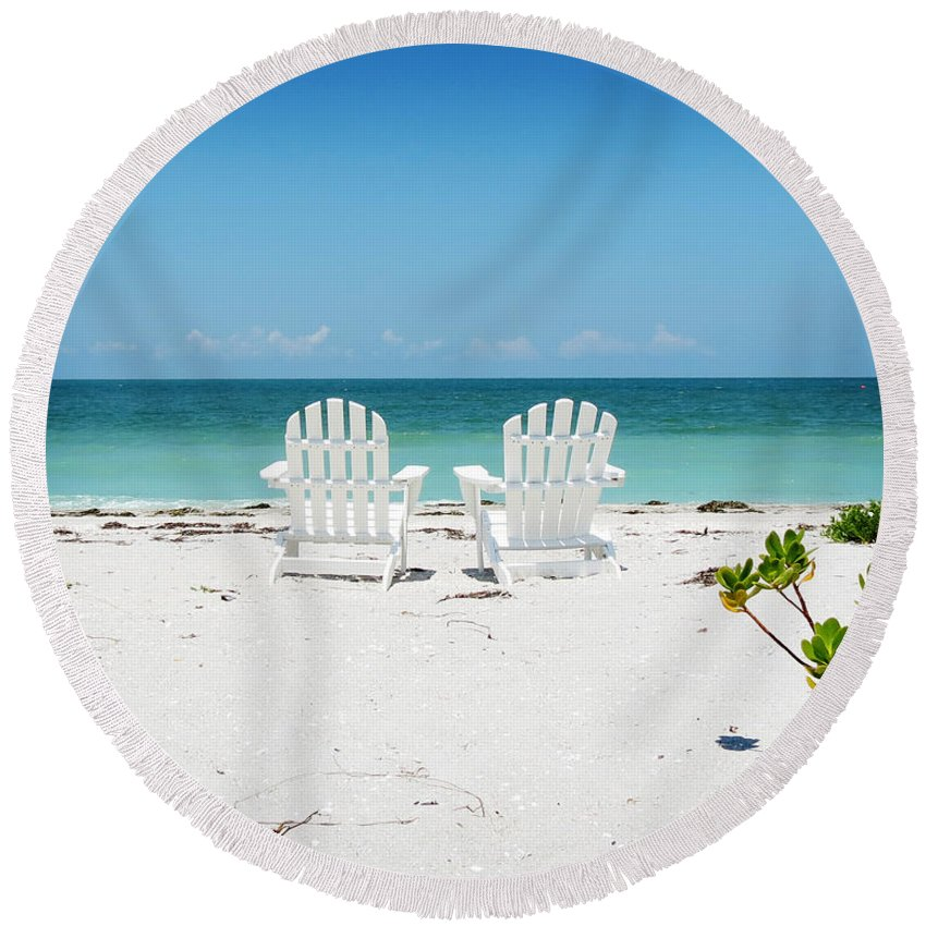 Gulf Of Mexico Round Beach Towels