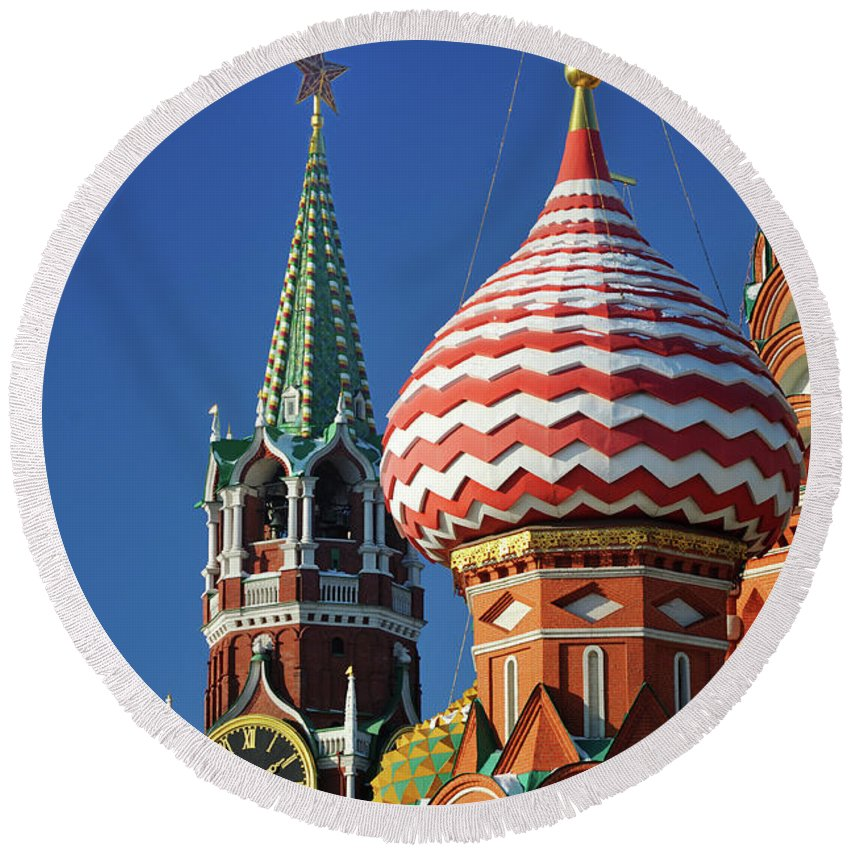Moscow Round Beach Towels