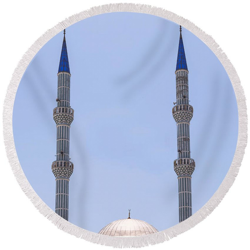Mosque Round Beach Towel featuring the photograph Mosque by Joana Kruse