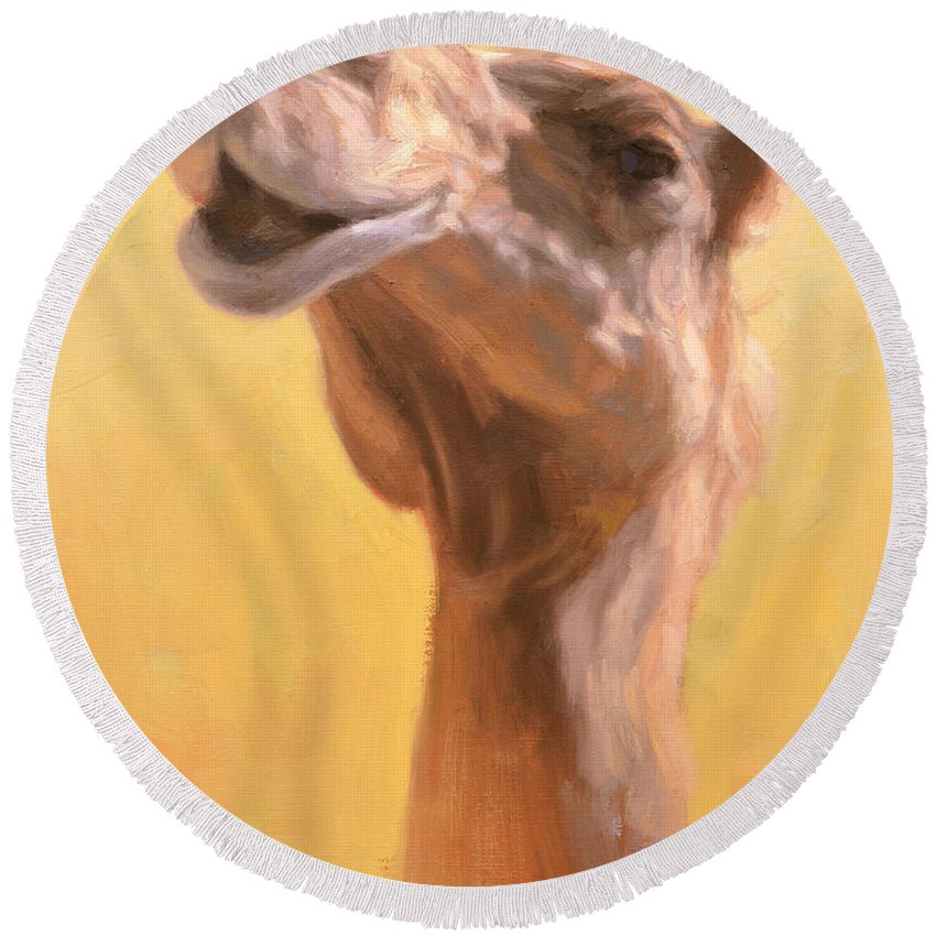 Camel Round Beach Towels