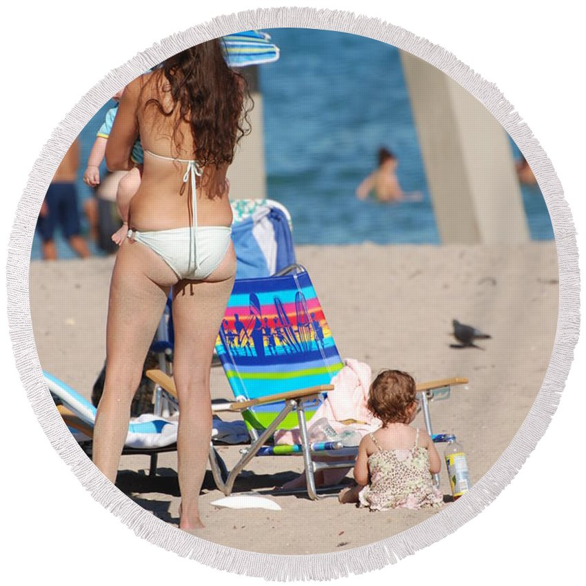 Mother Round Beach Towel featuring the photograph Mother by Rob Hans