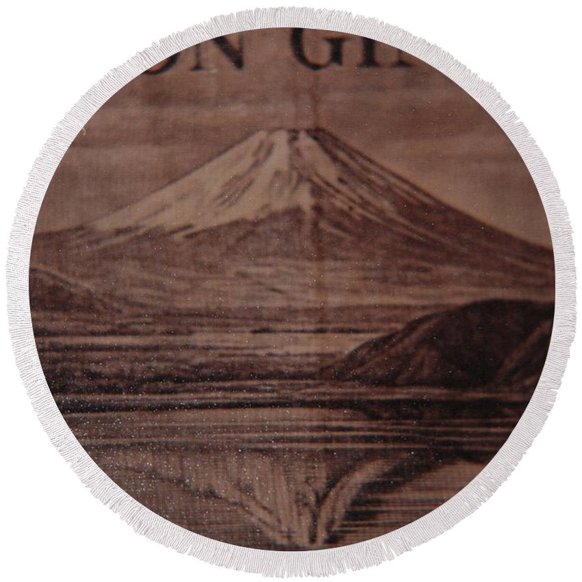 Mount Fuji Round Beach Towel featuring the photograph Mount Fuji by Rob Hans