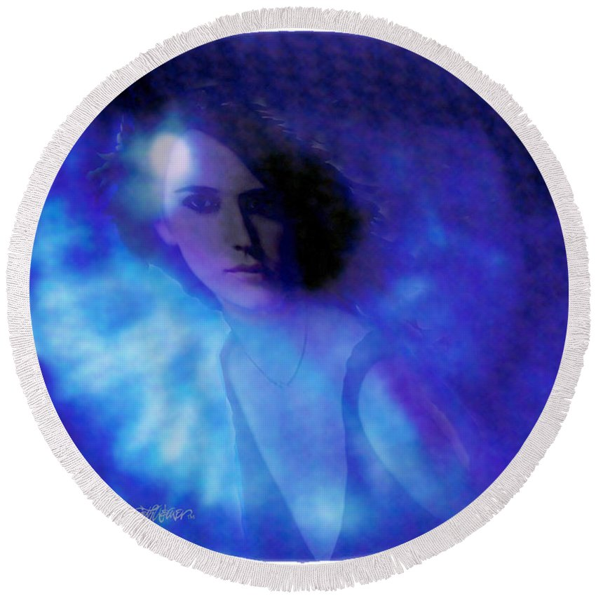 Abstract Round Beach Towel featuring the photograph My Eye's Delight by Seth Weaver