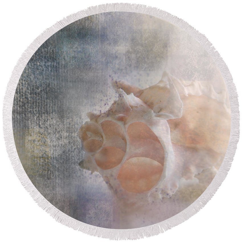 Sea Shell Round Beach Towel featuring the photograph Mysterious by Betty LaRue