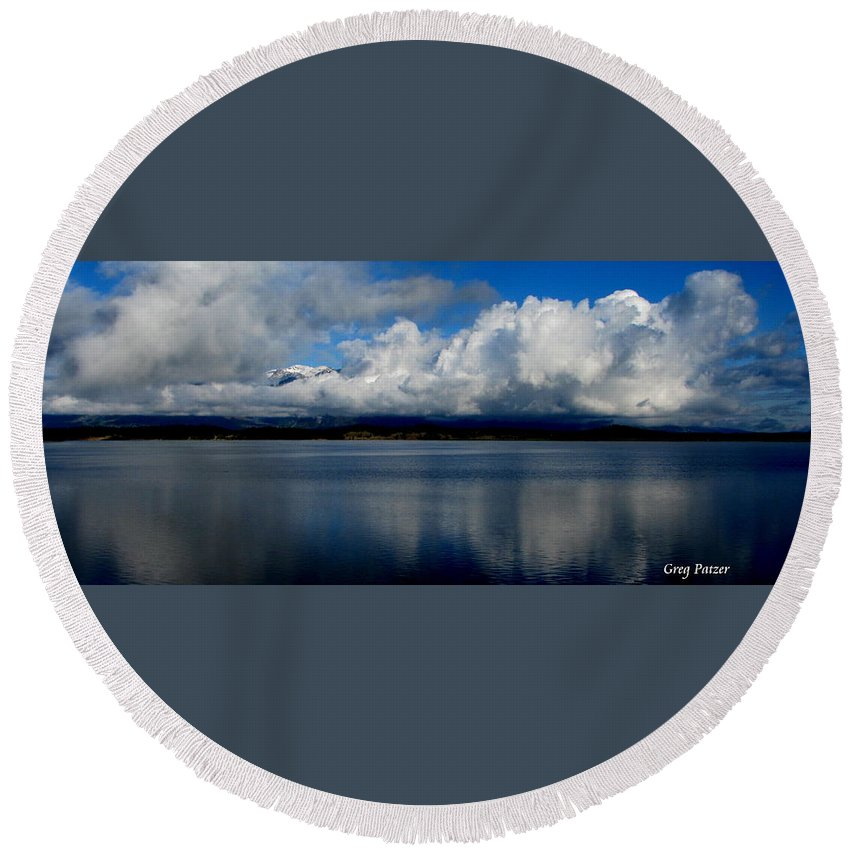 Patzer Round Beach Towel featuring the photograph Mystic by Greg Patzer
