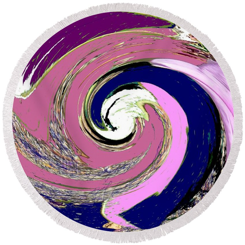 Abstract Round Beach Towel featuring the photograph Mystic by Ian MacDonald