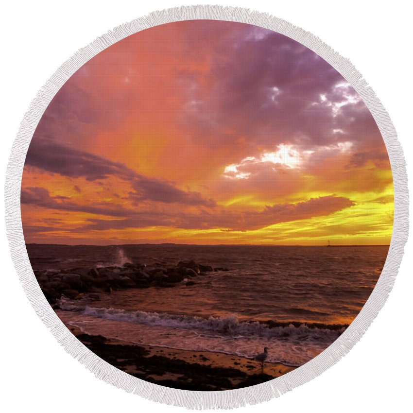Borough Round Beach Towel featuring the photograph Natural Ingredients by Joe Geraci