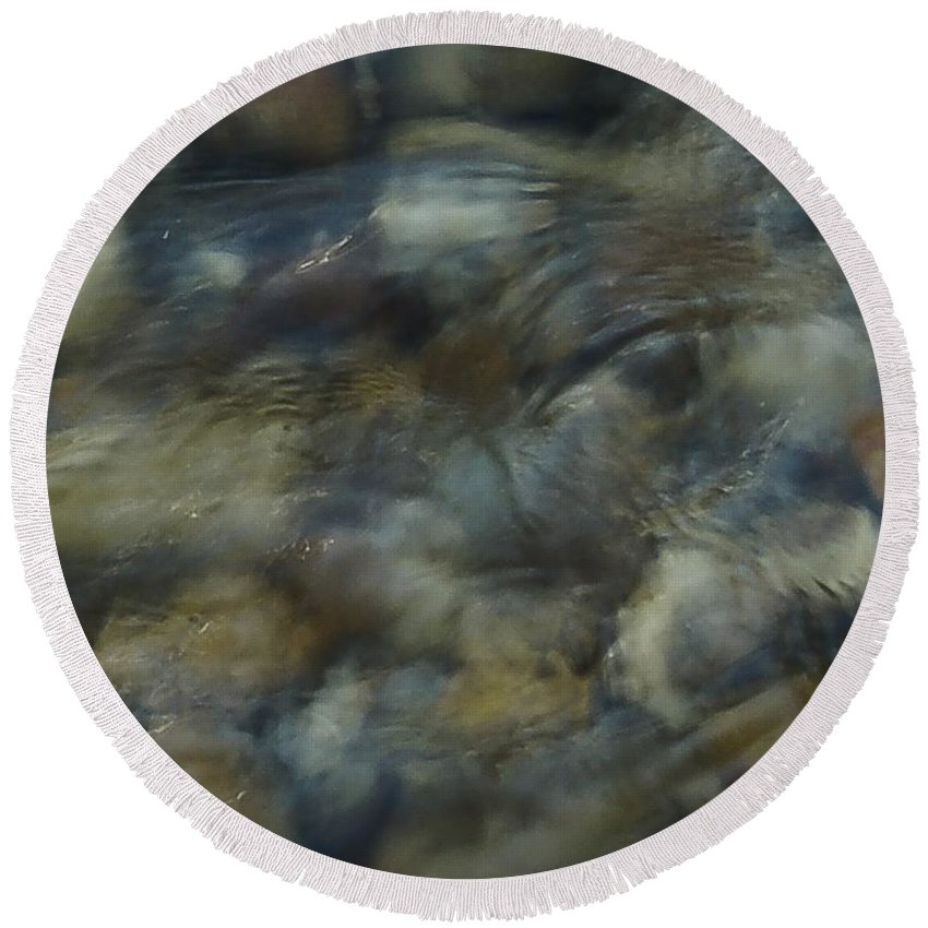 Rocks And Pebbles Round Beach Towel featuring the photograph Natures Watching You by Johnnie Stanfield