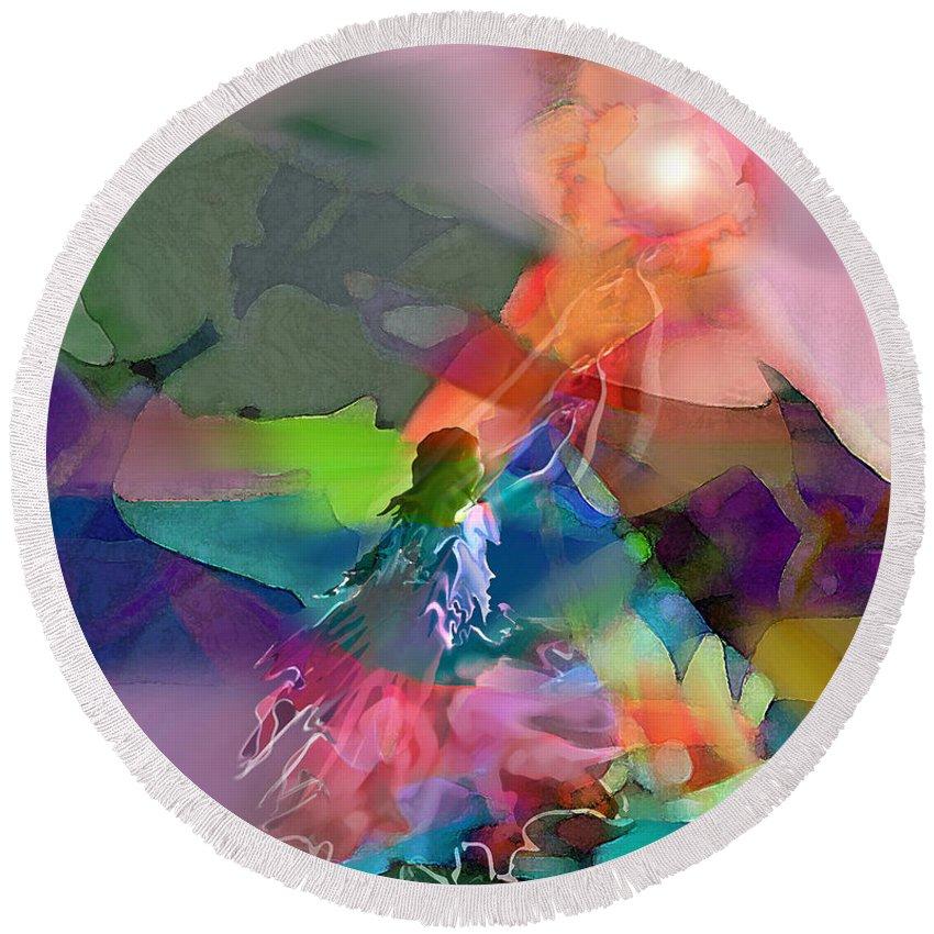 Spiritual Round Beach Towel featuring the digital art Nectar Of Heaven by Tony Macelli