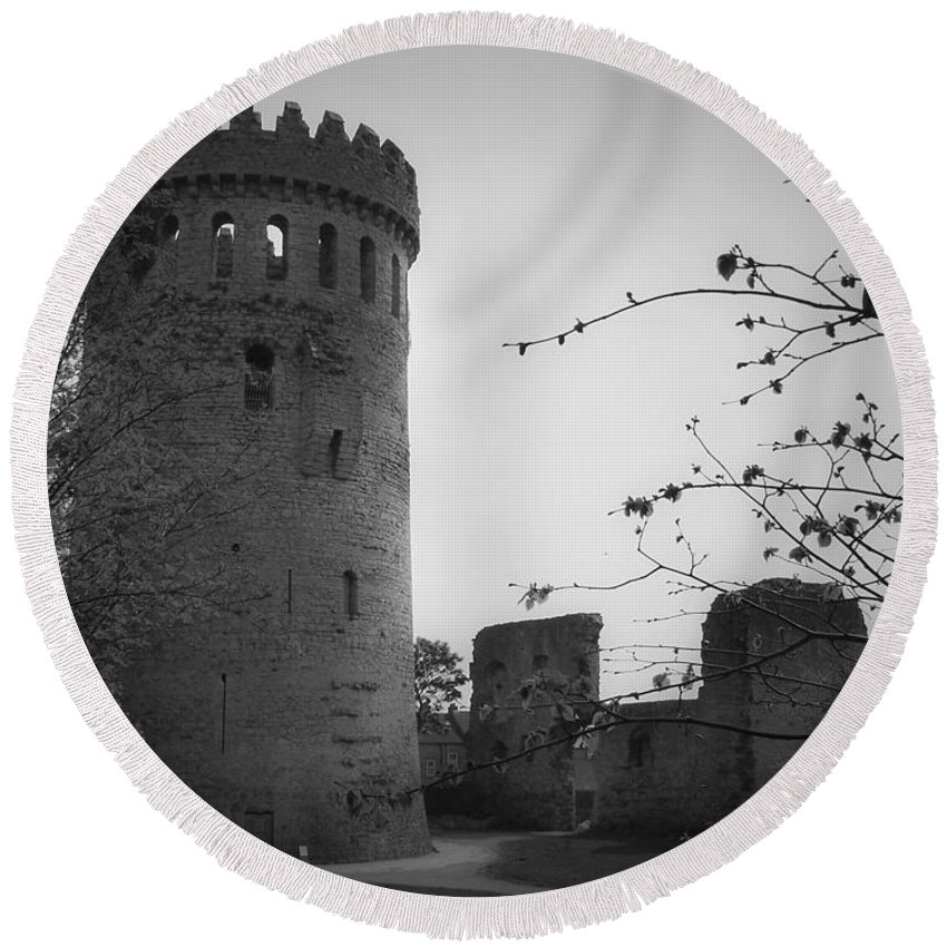 Ireland Round Beach Towel featuring the photograph Nenagh Castle County Tipperary Ireland by Teresa Mucha