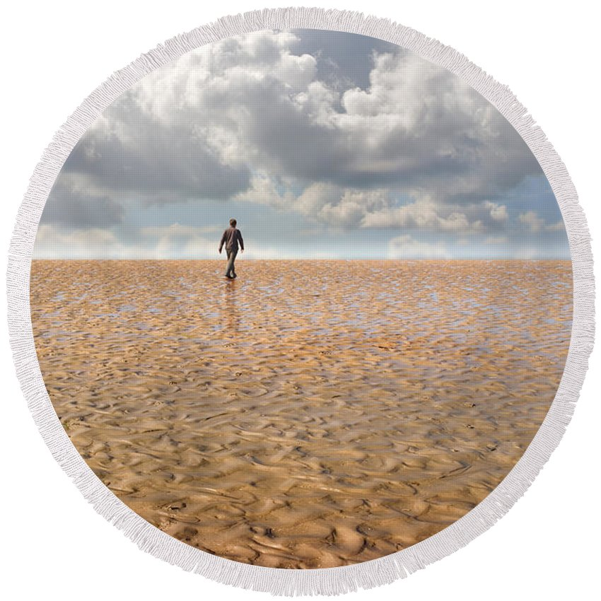 Landscape Round Beach Towel featuring the photograph Never Go Back by Mal Bray