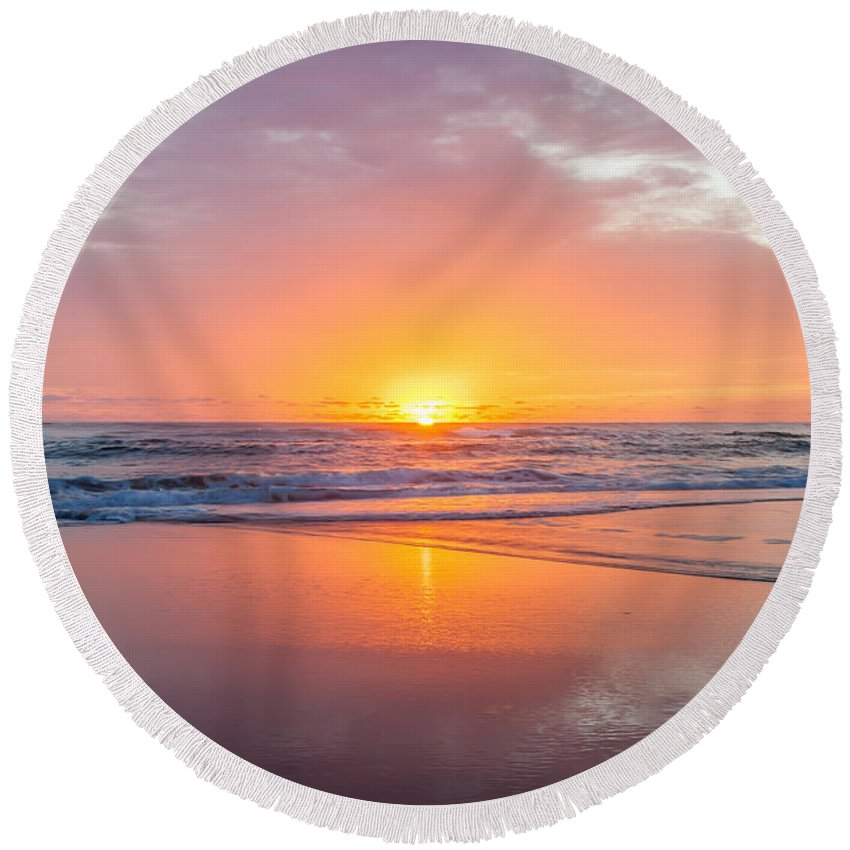 New Beginnings Round Beach Towel featuring the photograph New Beginnings by Az Jackson