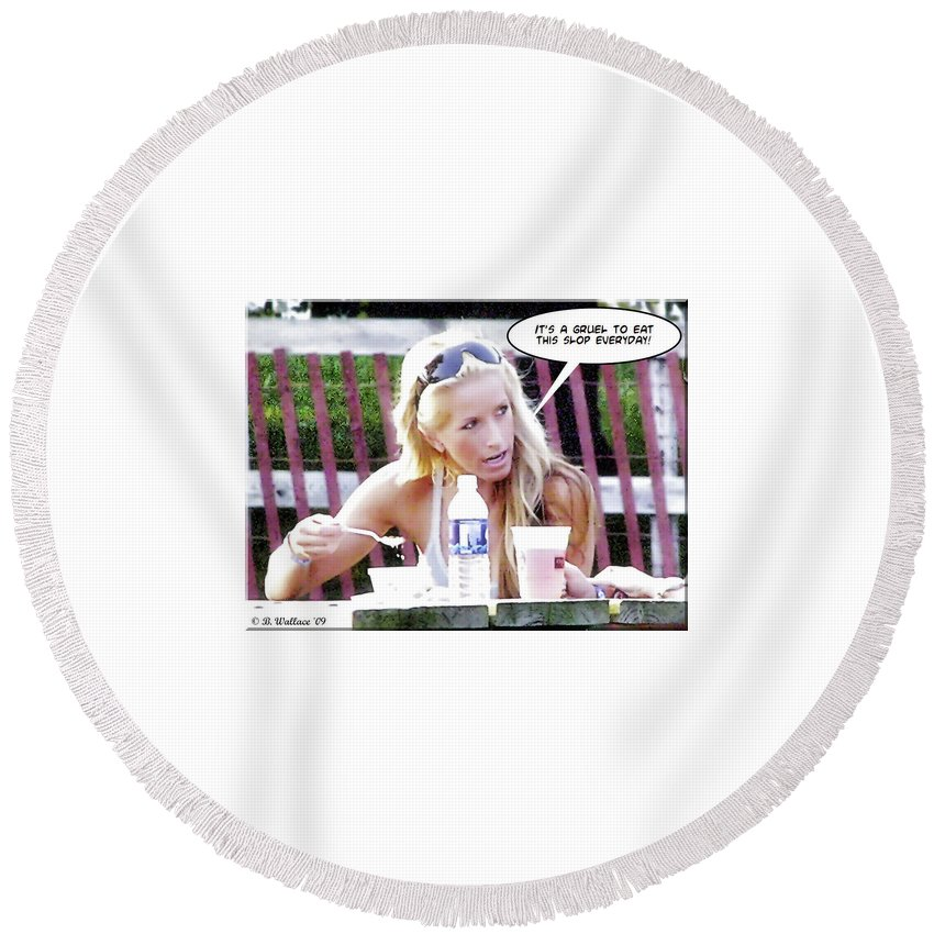 2d Round Beach Towel featuring the photograph New Diet by Brian Wallace