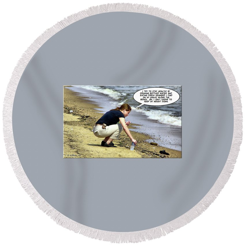 2d Round Beach Towel featuring the photograph New Year Resolution - Stay Healthy by Brian Wallace