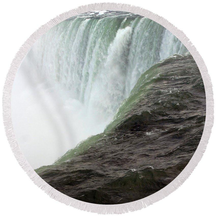 Niagara Falls Round Beach Towel featuring the photograph Niagara Falls 1 by Anthony Jones