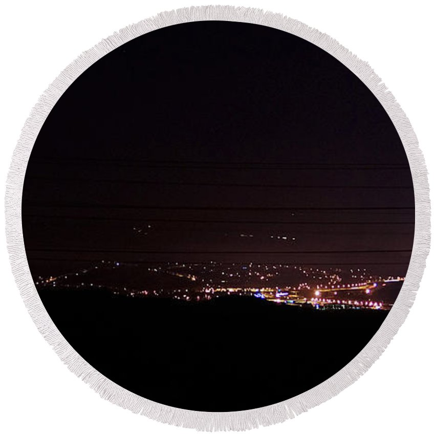 Clay Round Beach Towel featuring the photograph Nights In The Valley by Clayton Bruster