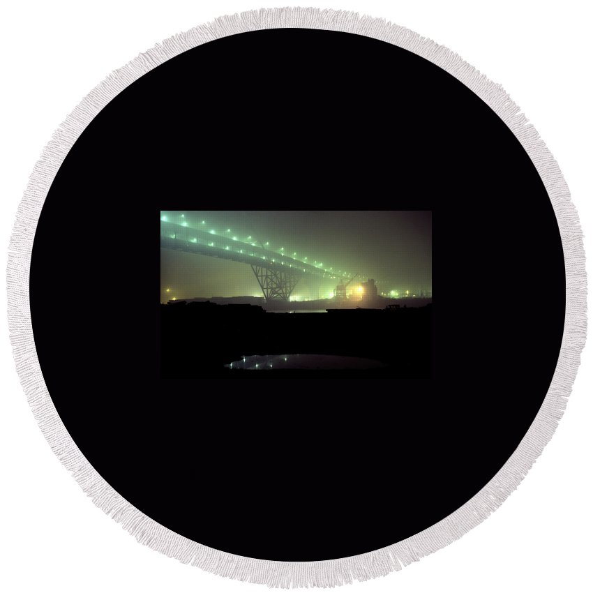 Night Photo Round Beach Towel featuring the photograph Nightscape 3 by Lee Santa